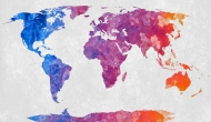 Acrylic World Map by Free Grunge Textures - www.freestock.ca