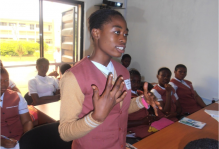 Miss Chukwu Peace asking her questions
