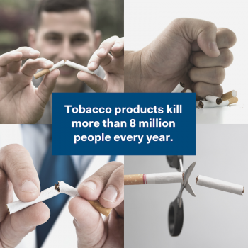 World No Tobacco Day LinkedIn banner
