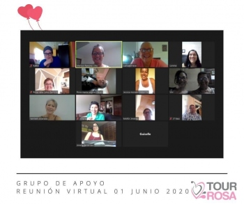 Asociación Tour Rosa de Costa Rica organises zoom support groups  for breast cancer patients