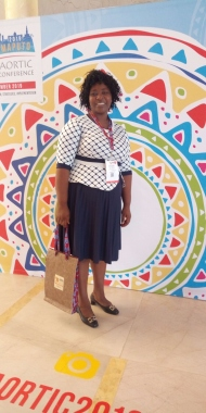 Florence Manjust, AORTIC, ECHO, Mozambique, Princess Dina Mired, Young Leader, Cancer Nurse