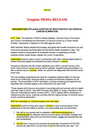 cervical cancer resolution draft press release