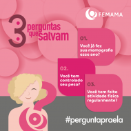 Campaign to raise awareness in Brazil about breast cancer