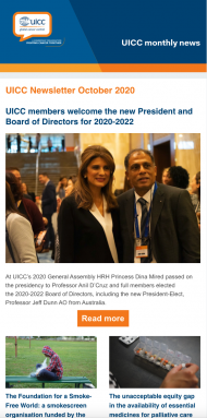 October UICC Newsletter