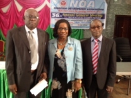 Prof Eyesan Nnodu and Idowu at Nigerian Orthopaedic Association Symposium Nov 2013.jpg