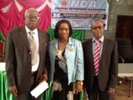 Prof Eyesan Nnodu and Idowu at Nigerian Orthopaedic Association Symposium Nov 2013.jpg