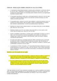 Talking points on cervical cancer resolution - Portuguese