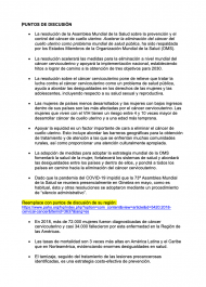 Cervical cancer elimination strategy - talking points spanish