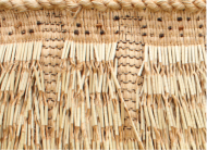 """Image of a woven cloak, a metaphor for the New Zealand cancer  control agency called Te Aho o Te Kahu, meaning """"to be the binding thread of the cloak""""."""