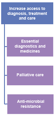 Increase access to diagnosis, treatment and care