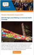 Member Newsletter, August 2019