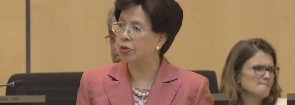 Margaret Chan opens WHA69