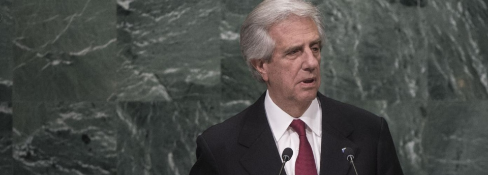 © United Nations- Dr Tabaré Vázquez, President of Uruguay, addresses the general debate of the General Assembly's seventy first session, 20 September 2016