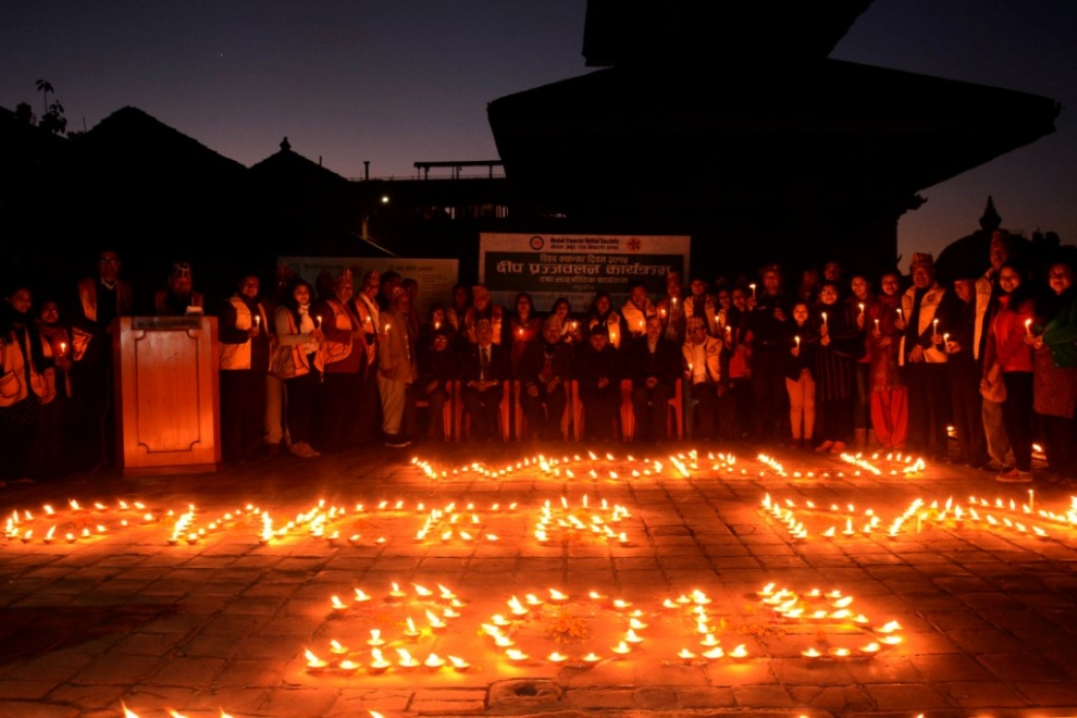 World Cancer Day 2015: Nepal Cancer Relief Society hold a candle lighting ceremony