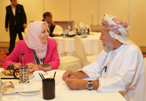 Participants interact at the Leadership in Action in Oman