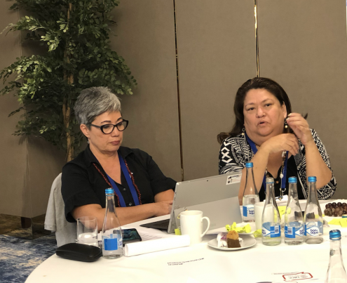 Shelley Burich, CEO of Samoa Cancer Society and Carmen Auste, CEO of Cancer Warriors Foundation (CWF) and Vice President of Cancer Coalition Philippines