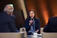 Tsetsegsaikhan Batmunkh, CEO of the Country Champion organisation National Cancer Council Mongolia, at World Cancer Leaders' Summit 2019