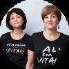 Carmen Uscatu and Oana Gheorghiu, co-founders of the Give Life Association, Romania