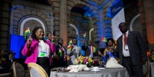 Ghanaian delegation celebrating Kumasi chosen as 4th Key Learning City