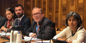 Dr Cary Adams speaking at WHA72