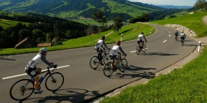 Participants in the 3000-km Country to Country for Cancer ride in Europe, 3-20 September 2021