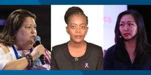 Carmen Auste, CEO of the Cancer Warriors Foundation (left), Christine Mugo-Sitati, Executive Director of KENCO (centre) and Tsetsegsaikhan Batmunkh, Advisor to the Minister of Health of Mongolia and Director of the Medicines and Medical Devices Regulatory Agency (right)