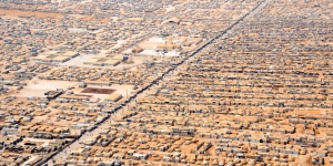 Zaatari in Jordan, currently the largest camp for Syrian refugees.