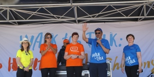 Dr Tedros, Sanchia Aranda and Princess Dina Mired at the Walk the Talk event in Geneva