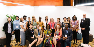 Group picture of poster session at the 2018 World Cancer Congress