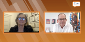 UICC CEO Dr Cary Adams and Dr Julie Gralow, Chief Medical Officer of the American Society of Clinical Oncology