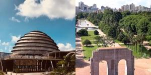 Kigali Rwanda and Porto Alegre, Brazil