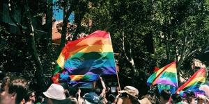 People celebrating gay pride