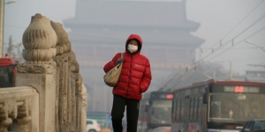 Air pollution in Beijing, China - air pollution contributes to an estimated 15% of lung cancer deaths
