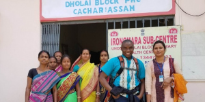 Dr Eguzo Kelechi at the Cachar Cancer Hospital in Silchar, India
