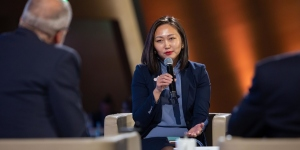 Tsetsegsaikhan Batmunkh, CEO of the Country Champion organisation National Cancer Council Mongolia, at World Cancer Leaders' Summit 2019