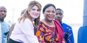 UICC President HRH Princess Dina Mired with First Lady Mrs Rebecca Akufo-Addo at the World Cancer Day 2019 Commemoration Event in Kumasi, Ghana - Photo © BCI Ghana