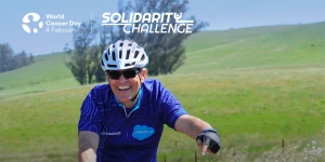 Mark Crafts, Cancer Survivor and World Cancer Day Solidarity Challenge Rider