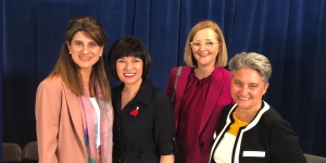 HRH Princess Dina Mired, The Honourable Ginette Petitpas Taylor, Minister of Health (Canada), TBC, and Dr Julie Torode
