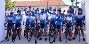 C2C4C bikers cheering