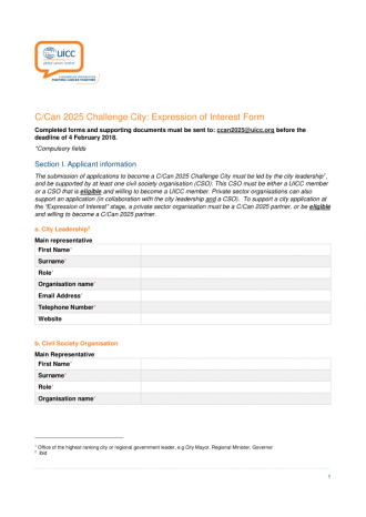 Challenge cities expression of interest form uicc challenge cities expression of interest form thecheapjerseys Gallery