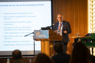 UICC's CEO Dr Cary Adams at the World Cancer Leaders' Summit 2019