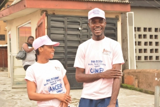 On right: Runcie C. W. Chidebe from Project Pink Blue