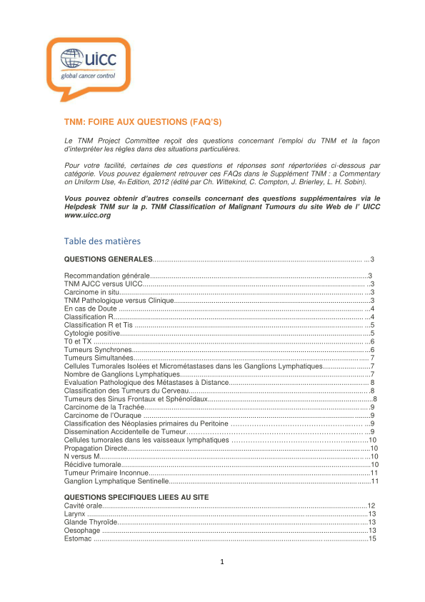 Publications and Resources   UICC