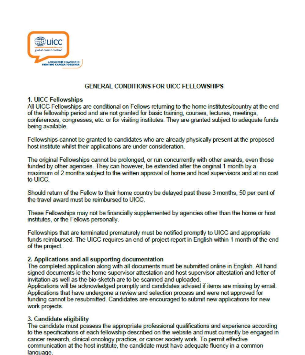 Fellowships | UICC